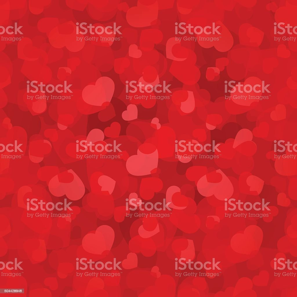 Valentine's day red seamless pattern with hearts. Vector eps-10. vector art illustration