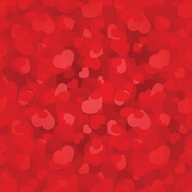 Valentinstag nahtlose Muster mit roten Herzen. Vektor-eps - 10. – Vektorgrafik