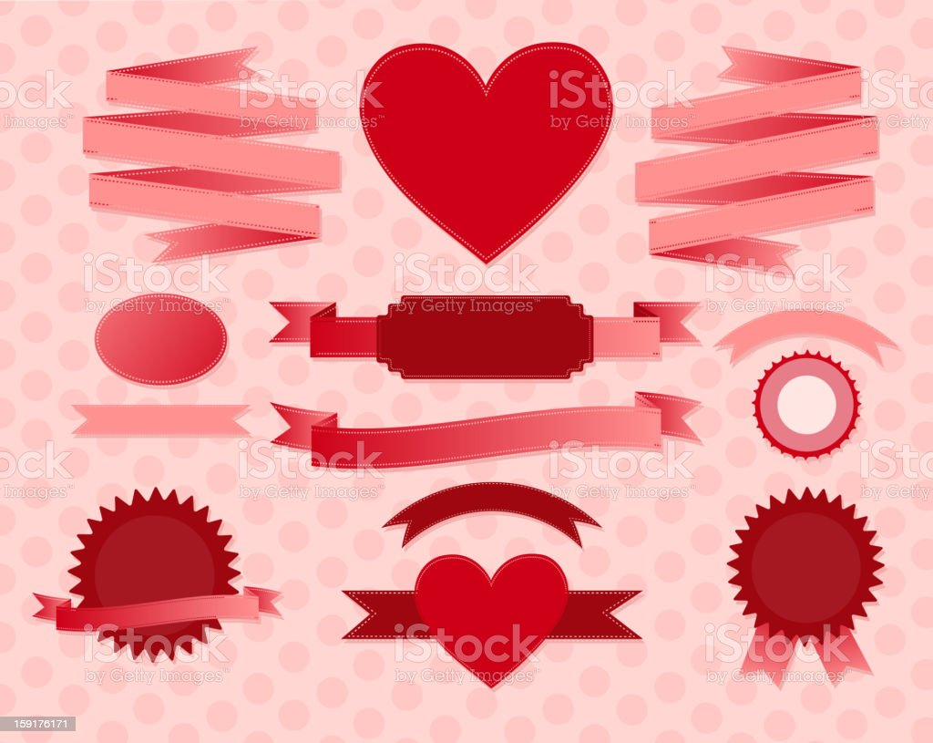 valentine's day ribbons royalty-free valentines day ribbons stock vector art & more images of abstract