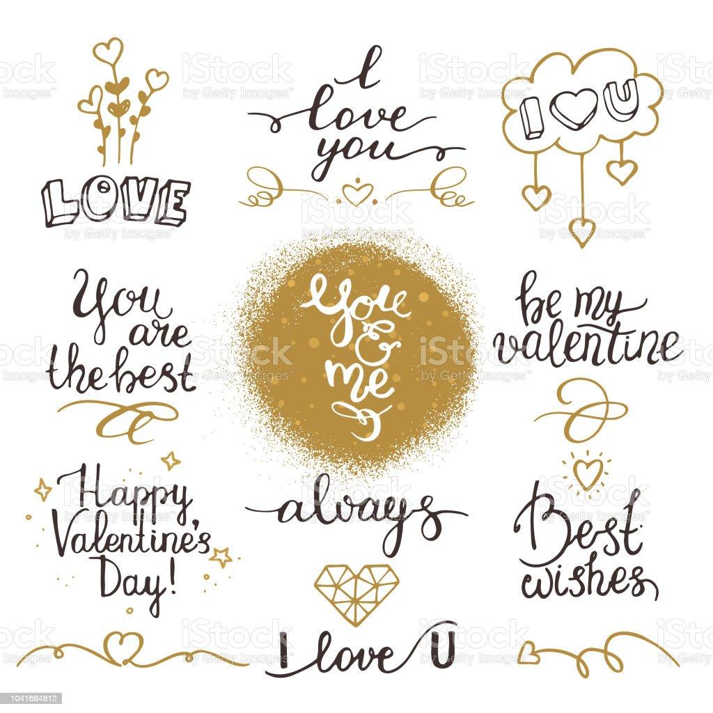Ilustración De Frases Románticas De San Valentín Confesión