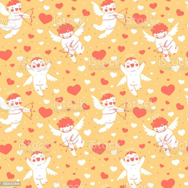 Valentines day romantic seamless pattern with cute cupid and hearts vector id530542945?b=1&k=6&m=530542945&s=612x612&h=tys rqlwl0qa8mjzyyojs88oupvwyiguqiif6brsjrk=
