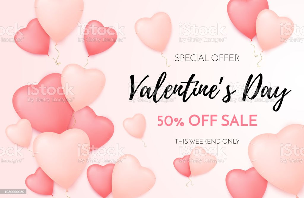 Royalty Free Valentines Day Background With Heart Shape Golden
