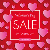 Valentines Day Sale Background - Illustration