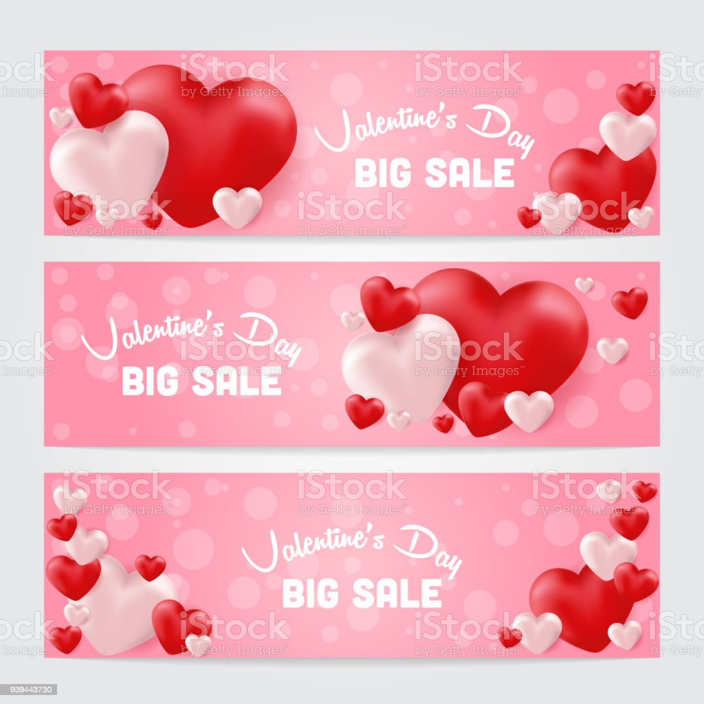 Valentines Day Sale Background Stock Vector Art More Images Of