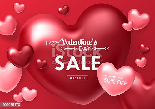 istock Valentines day sale banner template 905075470