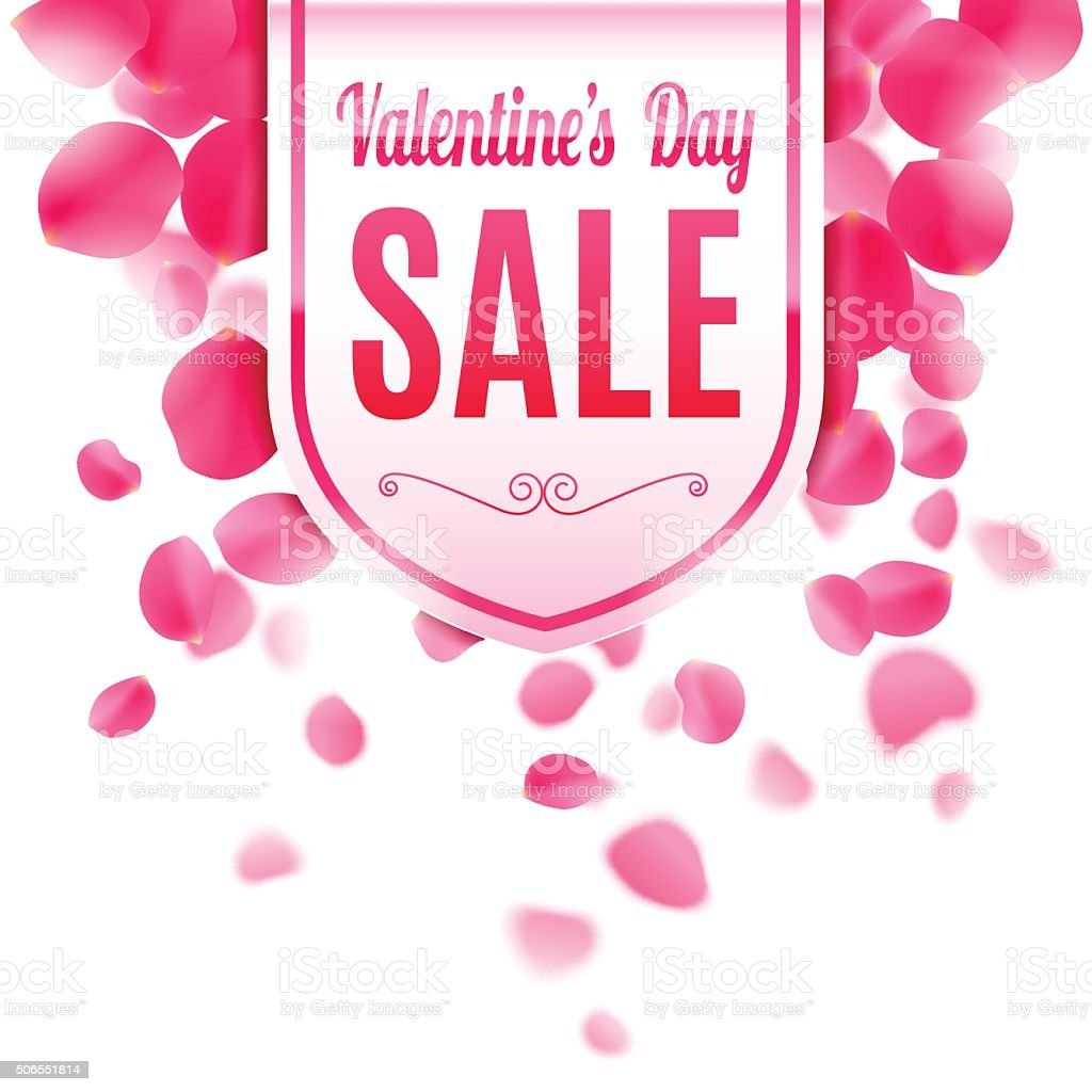 Valentines Day Sale Banner Stock Vector Art More Images Of Banner