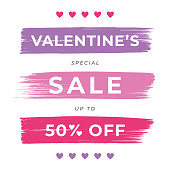 istock Valentine's Day Sale design for advertising, banners, leaflets and flyers. 1197448837