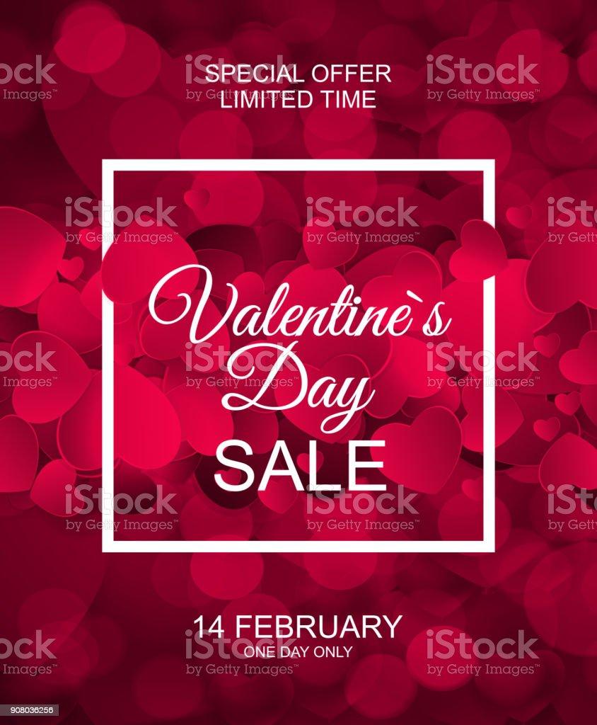 バレンタインの日販売、継続カード ベクトル図 ベクターアートイラスト