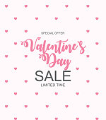 Valentines Day Sale, Discount Card. Vector Illustration EPS10