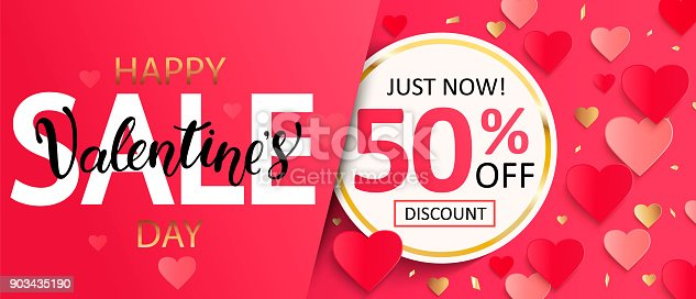 Valentines day sale gift card.