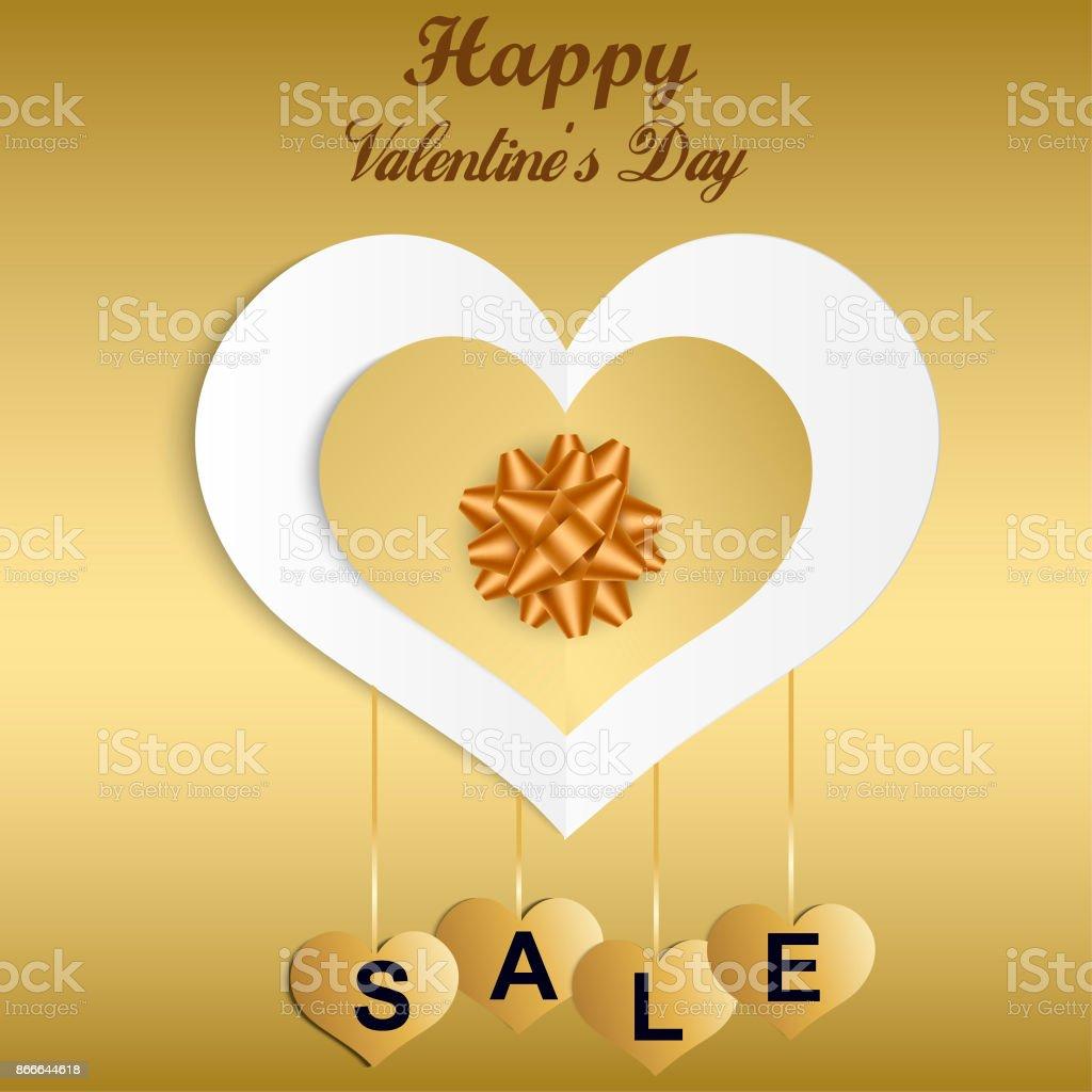 Valentinstagangebot Banner Vorlage Valentines Heart Verkauf Tags ...