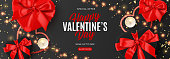 Valentine's Day sale promo banner