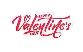 Valentines Day. Script lettering design. Happy Valentine's Day.