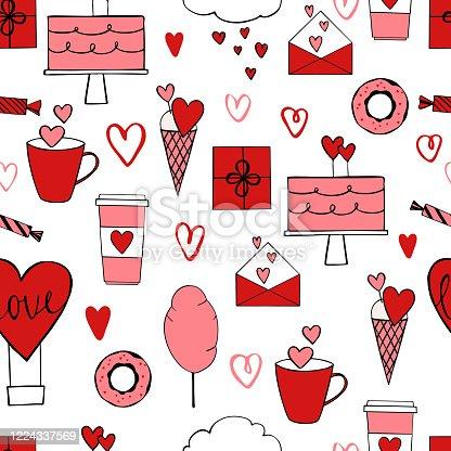istock Valentine's Day seamless pattern 1224337569