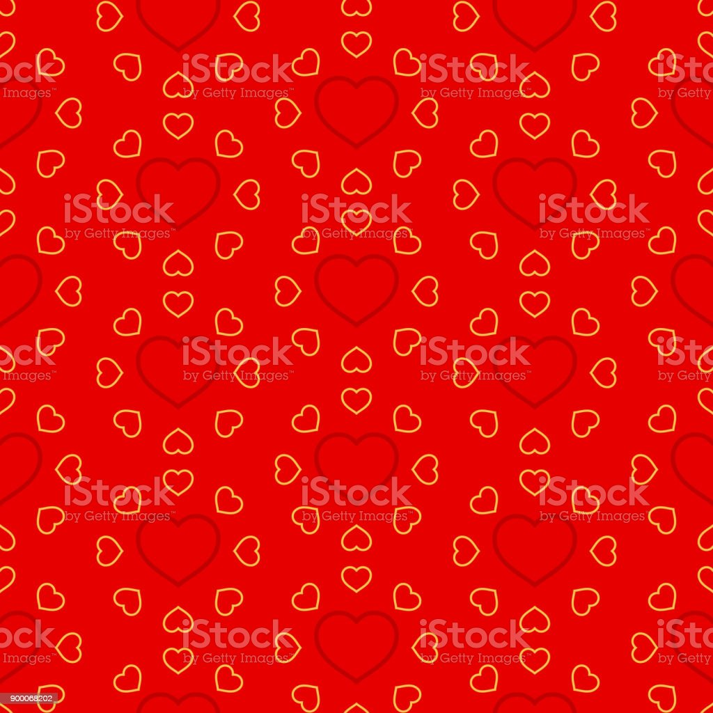 Valentine's Day Seamless Pattern vector art illustration