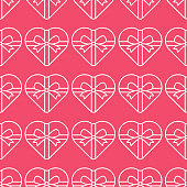 Valentine's day seamless pattern vector illustration. seamless vector pattern of hearts with simple flat design. Valentines day background vector illustration.