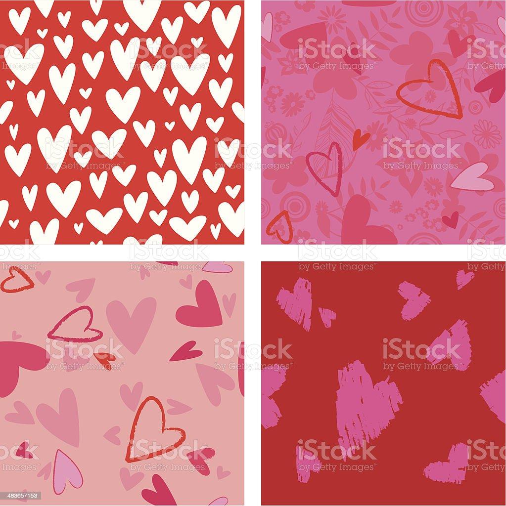 Valentine's Day - seamless wallpaper design - Illustration royalty-free stock vector art