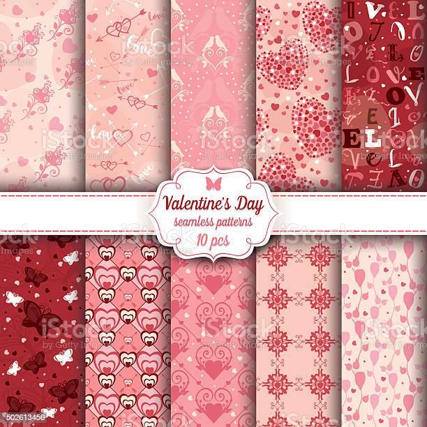 Valentines day set of ten seamless romantic patterns vector id502613456?b=1&k=6&m=502613456&s=612x612&h=px8yxiioczwzb13fqlnrxkq jzjlfo30au dyydioba=