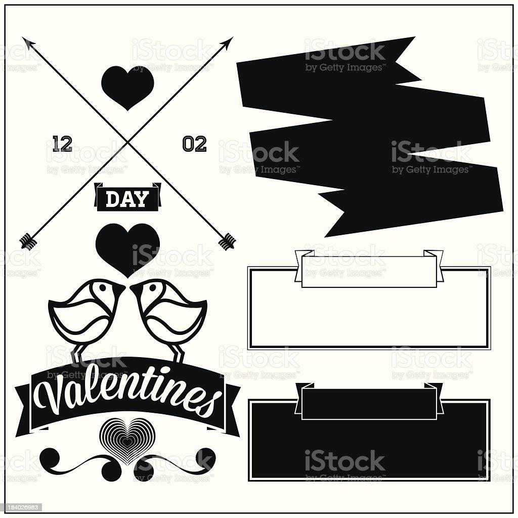 Valentine's day. Set royalty-free stock vector art