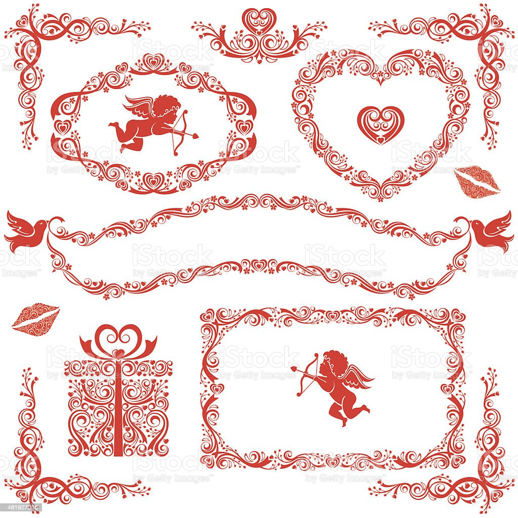 Valentine's Day Set royalty-free stock vector art