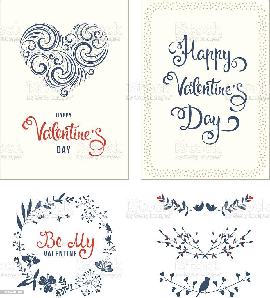 Valentines Day Set - illustrazione arte vettoriale