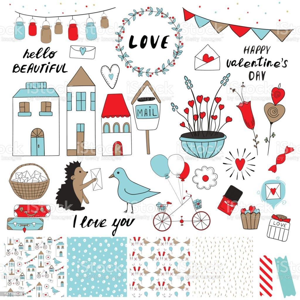 Valentinstag-set – Vektorgrafik