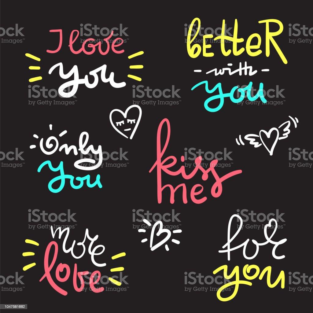 Saint Valentin Et Amour Texte Coeur Modèle Pour Les Stickers