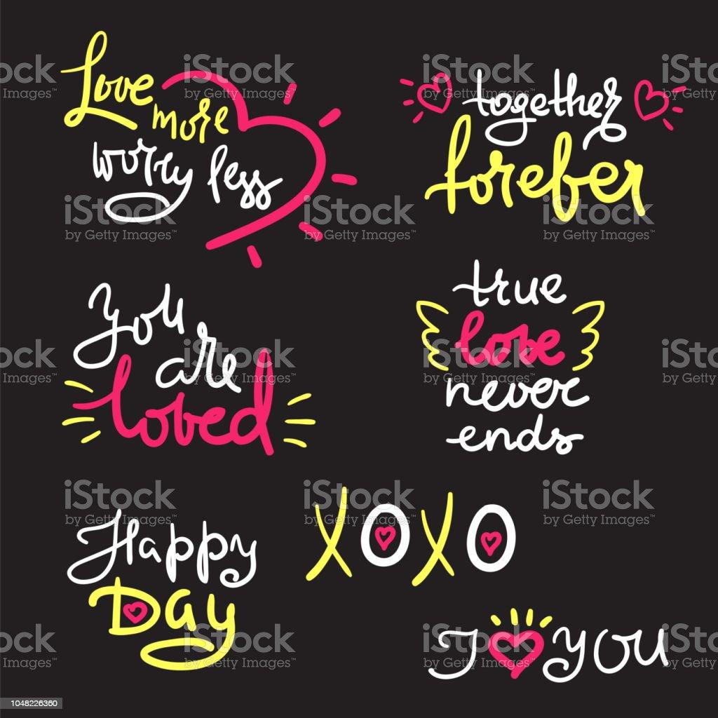 Valentin Et Texte Amour Cœur Modèle Pour Les Stickers