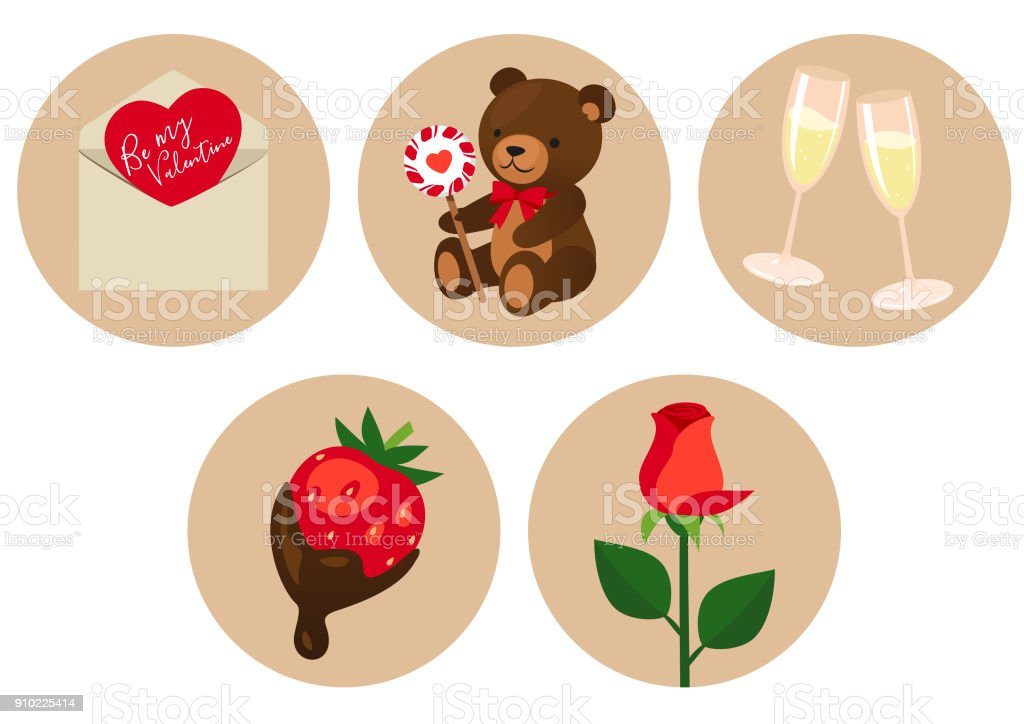 Valentine's Day symbols royalty-free valentines day symbols stock vector art & more images of brown