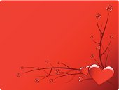 A valentine's day themed heart background with horizontal content area.