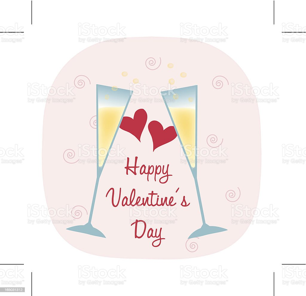Valentine's Day Toast royalty-free stock vector art