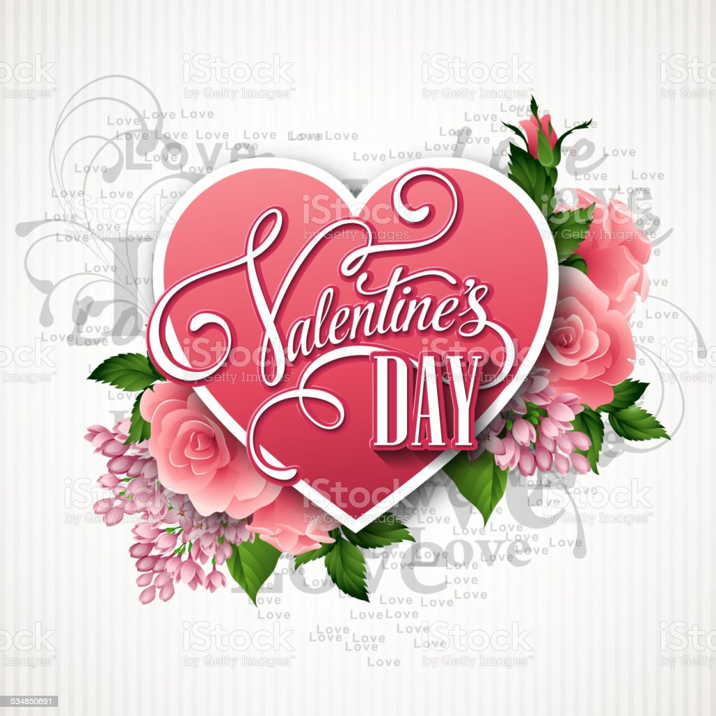valentines day vector illustration with a heart of beautiful, Ideas