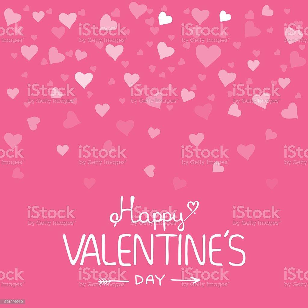 Valentines day vintage lettering background vector art illustration