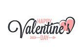 Valentines day vintage lettering background 10 eps