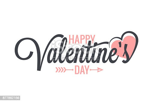 istock Valentines day vintage lettering background 877862156