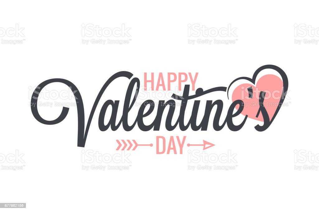 Valentines day vintage lettering background vector art illustration
