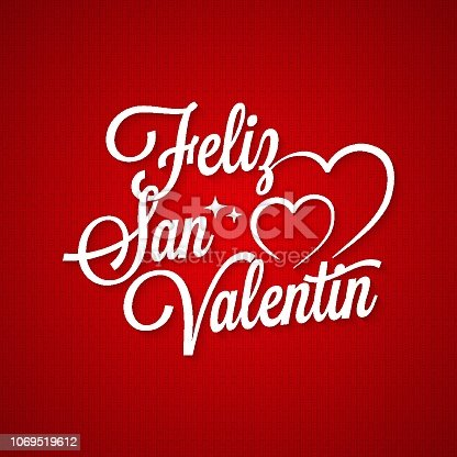 Valentines day vintage lettering.