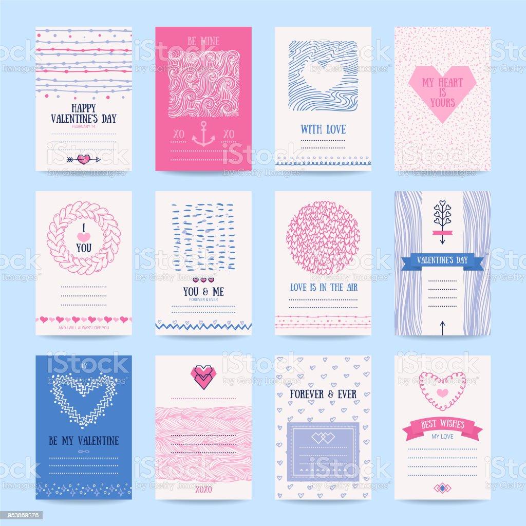 Valentinstag Hochzeit Einladung Kartenvorlagen Stock Vektor Art und ...