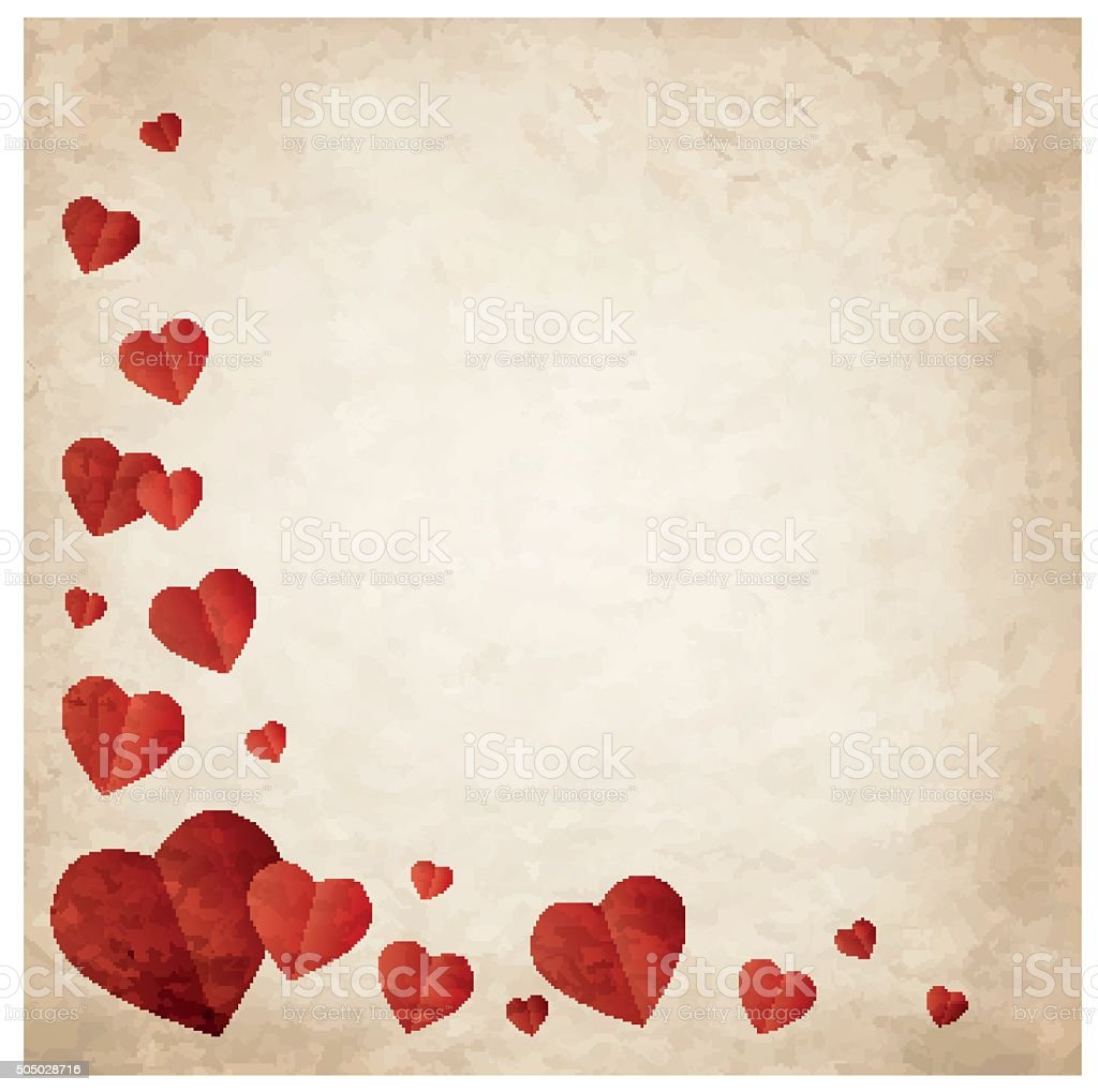 Valentine's day wish card vector illustration vector art illustration