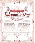 A Valentine's Day themed poster design. EPS 10 file, no transparencies, layered & grouped,