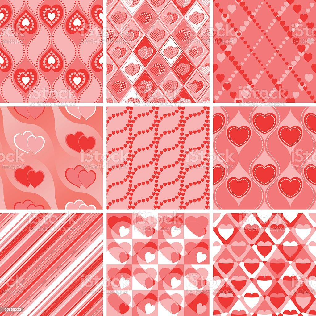 valentines day wrapping paper royalty free stock vector art - Valentines Day Wrapping Paper