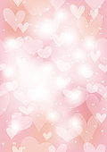 Valentine's Day/bridal seamless abstract background, vector illustration. Horizontally and vertically repeatable.