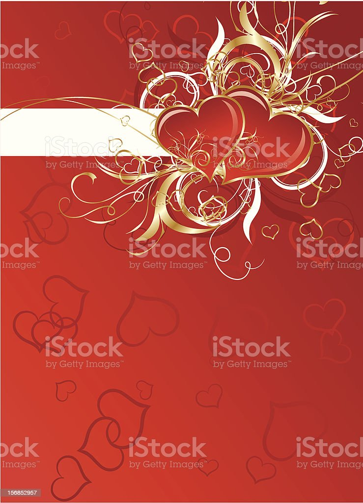 Valentines floral background royalty-free stock vector art