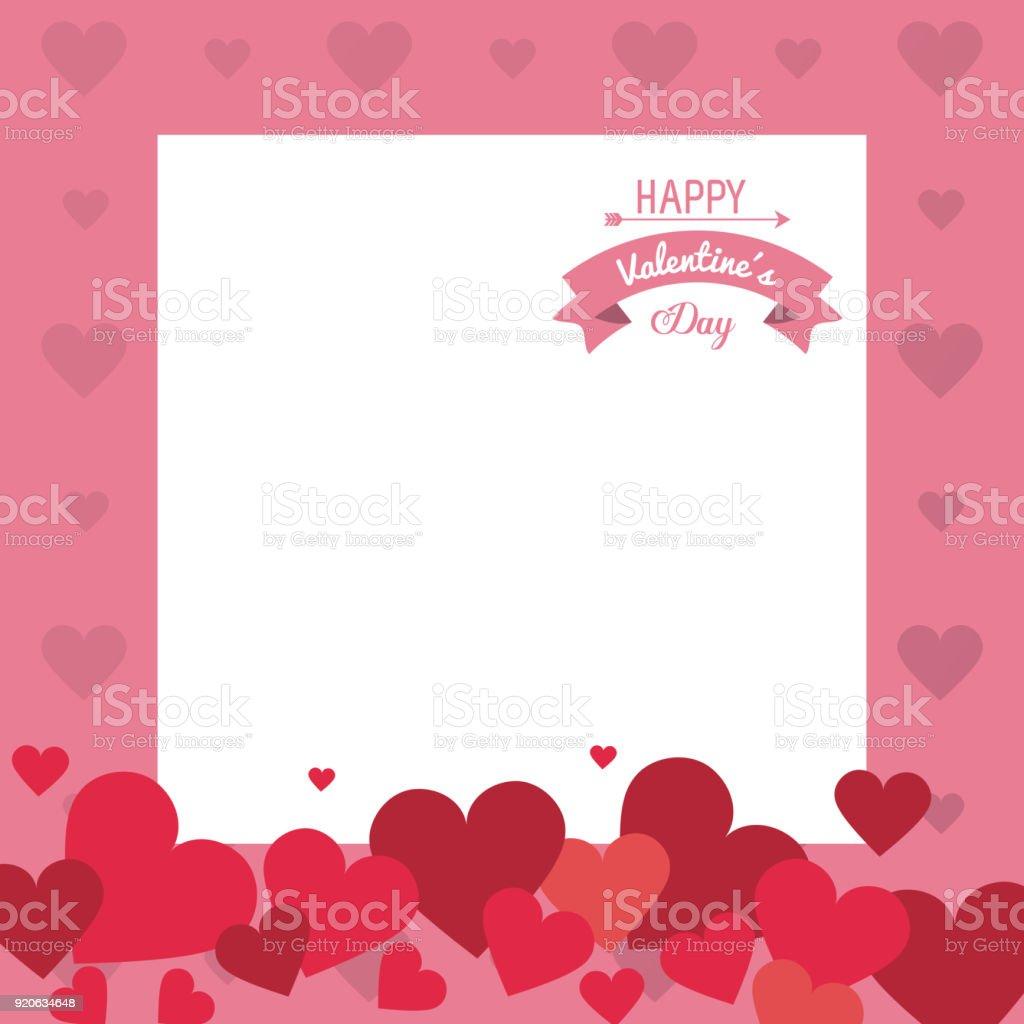 Valentines Rahmen Design Stock Vektor Art und mehr Bilder von ...