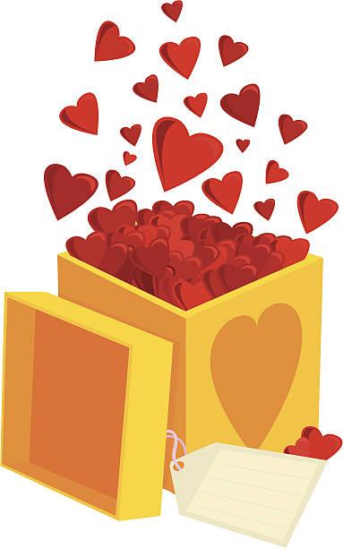 Valentines gift vektorkonstillustration