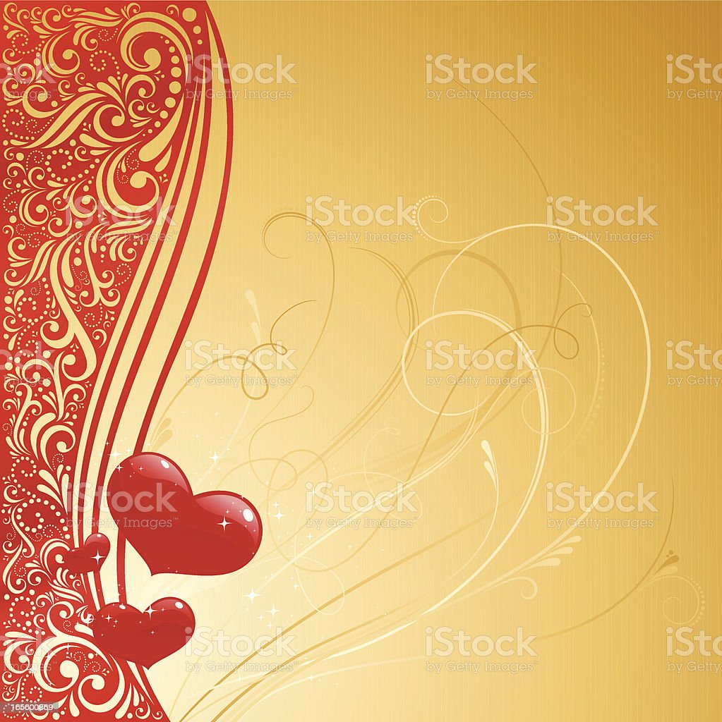 Valentines Gold Background royalty-free valentines gold background stock vector art & more images of backgrounds