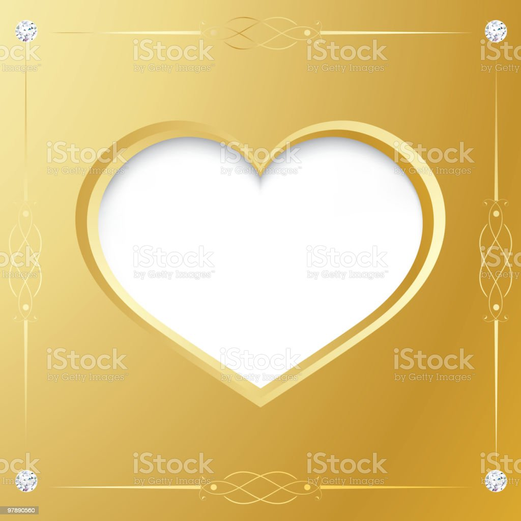 Valentines gold frame royalty-free valentines gold frame stock vector art & more images of abstract