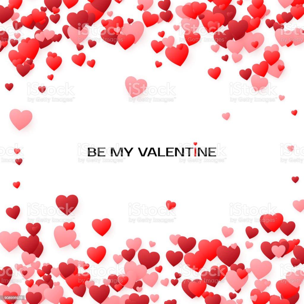 Valentinstag Grusskartenabdeckung Mit Herzen Durch Meine Valentine
