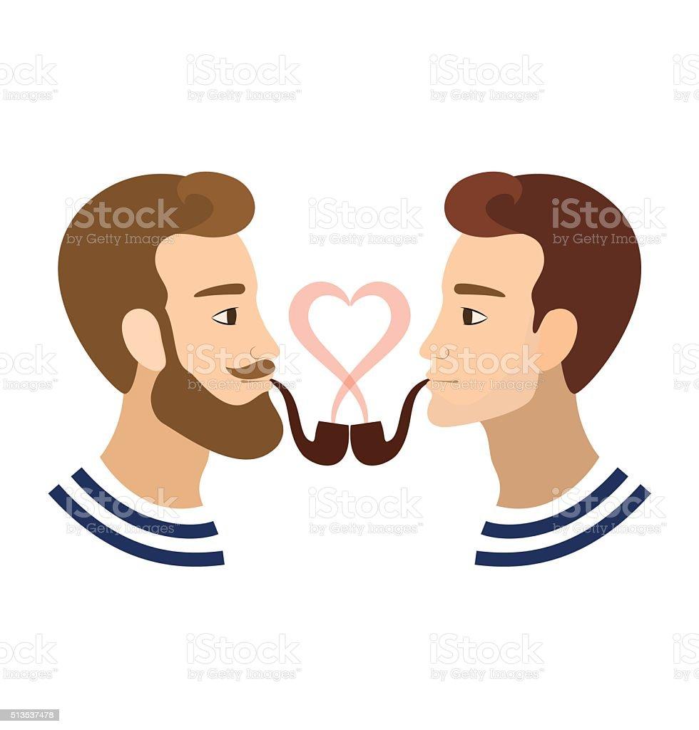 バレンタインの日グリーティングカードゲイ 同性愛者 カップル