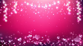 Valentines heart abstract background